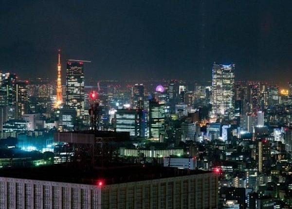 ▲The beautiful view of Tokyo Tower and Roppongi Hills