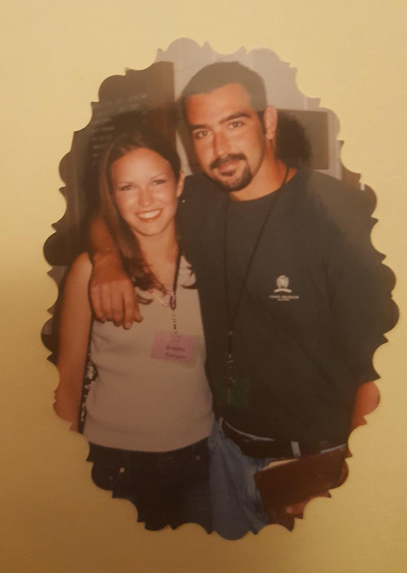 JoAnna Hendrickson with Wes Feltner in the summer of 2002, when she was an intern.