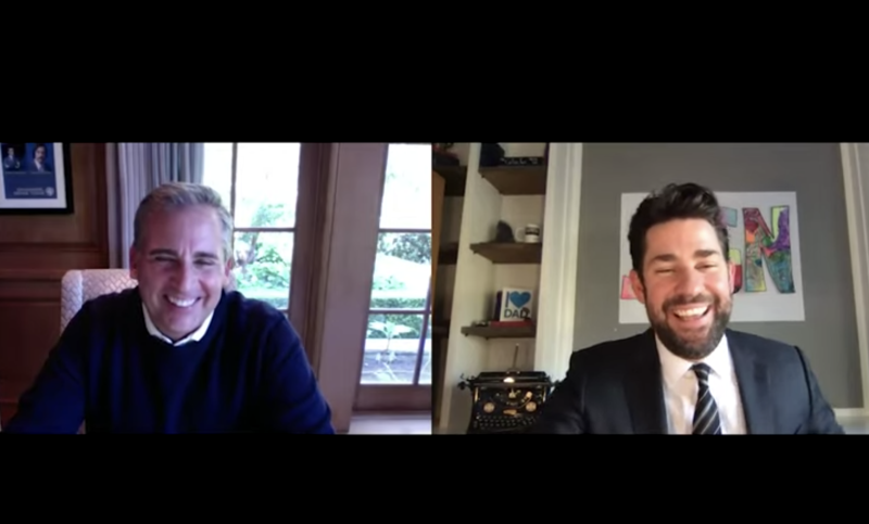 John Krasinski and Steve Carell Reflect on 15th Anniversary of 'The Office'