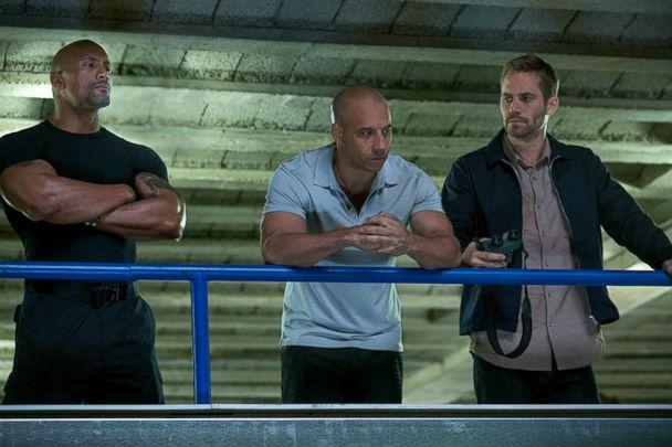 PHOTO: Dwayne Johnson, Vin Diesel and Paul Walker in 'The Fast and the Furious 6.' (Universal Studios)