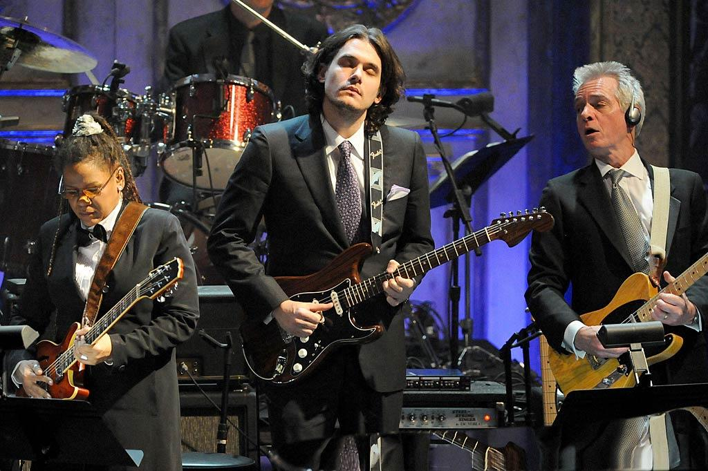 "John Mayer -- who wasn't even born when some of the inductees first started rocking out -- represented the Generation X fanbase with a few tunes. Jeff Kravitz/<a href=""http://www.filmmagic.com/"" target=""new"">FilmMagic.com</a> - March 14, 2011"