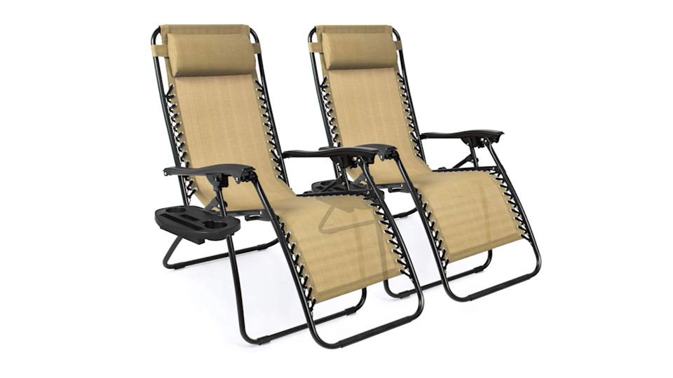 They're portable enough to go from your patio to the campgrounds, which is helpful since they'll quickly become your favorite place to lounge.
