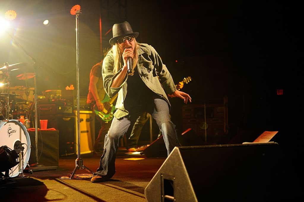 """Kid Rock took to the stage at the ESPN bash, belting out tunes including his hit """"All Summer Long,"""" and an inspired duet with Rev Run of the classic """"Walk This Way."""" Kevin Mazur/<a href=""""http://www.wireimage.com"""" target=""""new"""">WireImage.com</a> - February 4, 2011"""