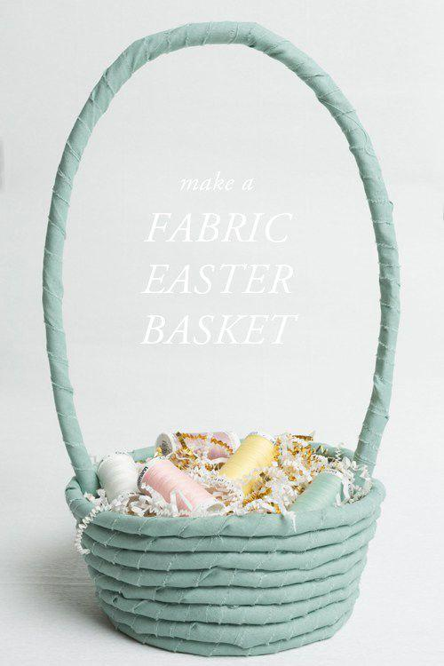 """<p>This no-sew version only requires four materials <em>and</em> very little time. The Easter Bunny wouldn't want anything but. </p><p><a href=""""http://thehousethatlarsbuilt.com/2014/04/no-sew-fabric-rope-easter-basket.html/"""" rel=""""nofollow noopener"""" target=""""_blank"""" data-ylk=""""slk:Get the tutorial from The House That Lars Built »"""" class=""""link rapid-noclick-resp""""><em>Get the tutorial from The House That Lars Built »</em></a></p>"""