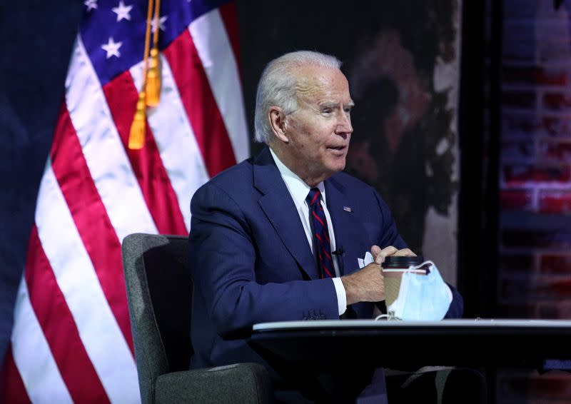 U.S. President-elect Joe Biden attends briefing on national security in Wilmington, Delaware