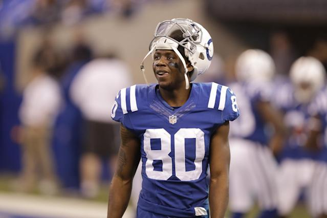 Indianapolis Colts wide receiver Chester Rogers has earned Andrew Luck's trust. Can he produce for fantasy managers in Week 6? Yahoo Fanalyst Liz Loza likes the chances. (AP Photo/Darron Cummings)