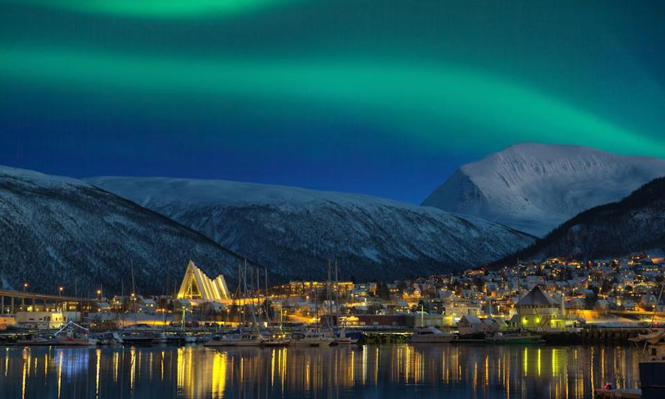 Tromso at night.