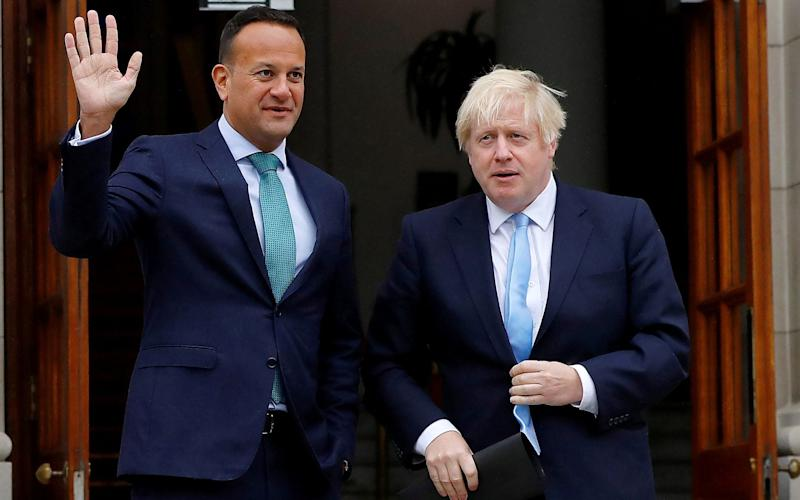 Counterparts:Leo Varadkar and Boris Johnson, pictured in Dublin last month, will meet privately today - REUTERS