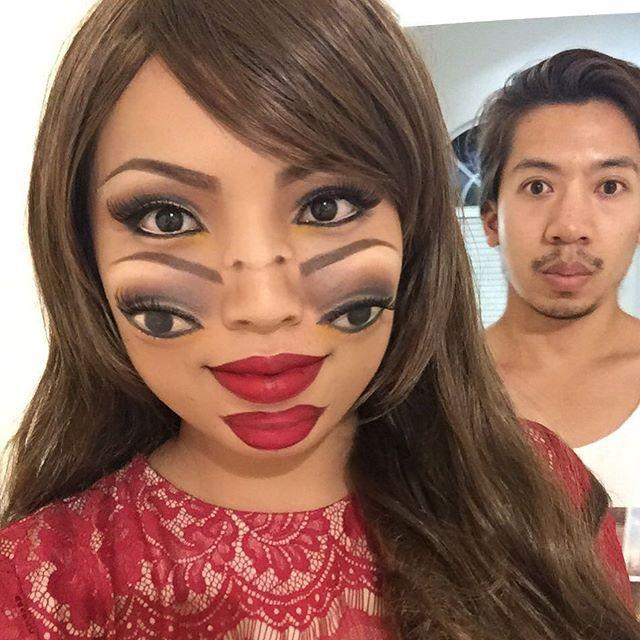 "<p>Seeing double? Freak everyone at the party out with this <a href=""https://www.goodhousekeeping.com/holidays/halloween-ideas/a34801/melting-barbie-makeup-tutorial-halloween/"" rel=""nofollow noopener"" target=""_blank"" data-ylk=""slk:bizarre makeup"" class=""link rapid-noclick-resp"">bizarre makeup</a>.</p><p><a href=""https://www.instagram.com/p/7q5zvFTJt_/&hidecaption=true"" rel=""nofollow noopener"" target=""_blank"" data-ylk=""slk:See the original post on Instagram"" class=""link rapid-noclick-resp"">See the original post on Instagram</a></p>"