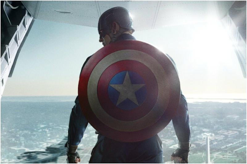 OMG! Why is This Actor Holding Captain America's Vibranium Shield?