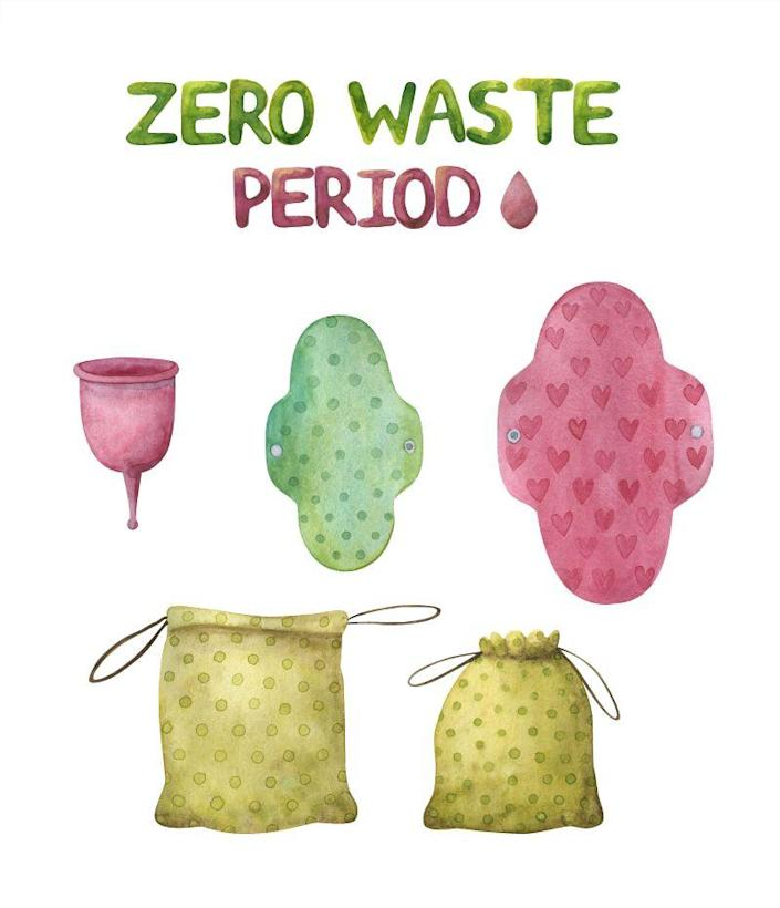 Menstrual cups and biodegradable sanitary pads ensure zero waste period.