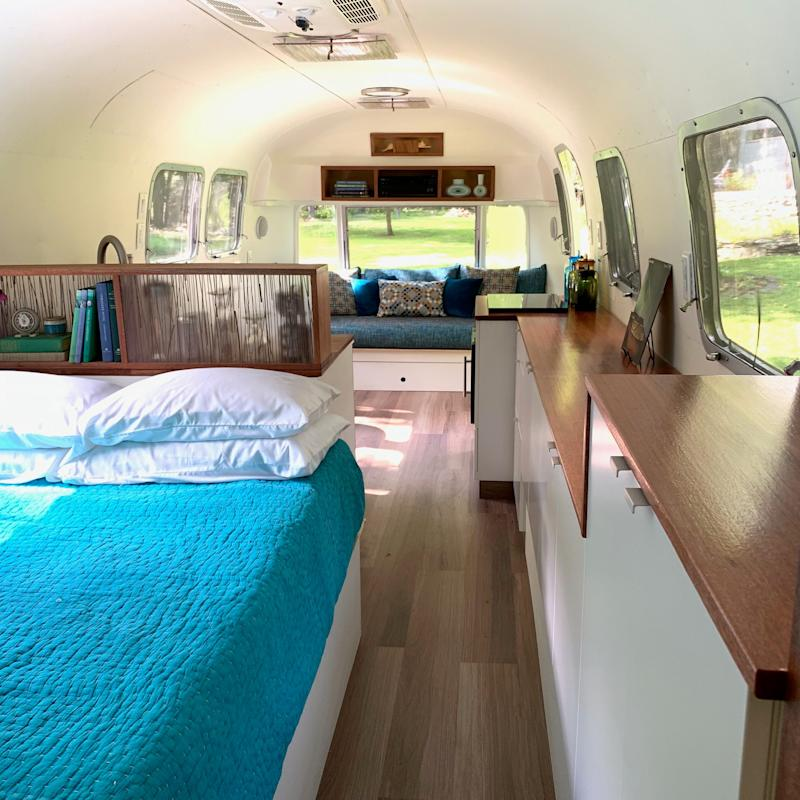 Interior from bed to door Roberta - Hudson Valley Airstream