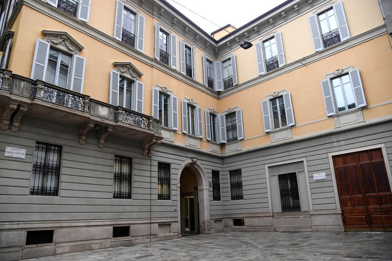 FILE PHOTO: Italy's Mediobanca headquarters is seen in Milan