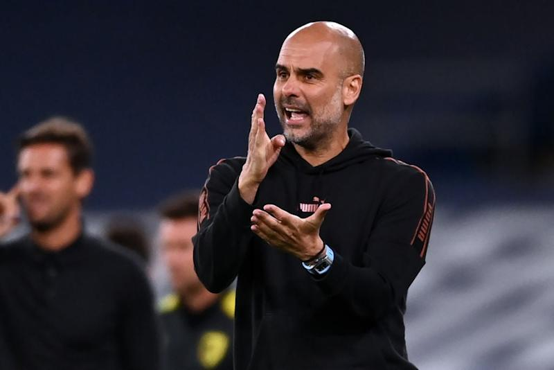 Man City boss Pep Guardiola (POOL/AFP via Getty Images)