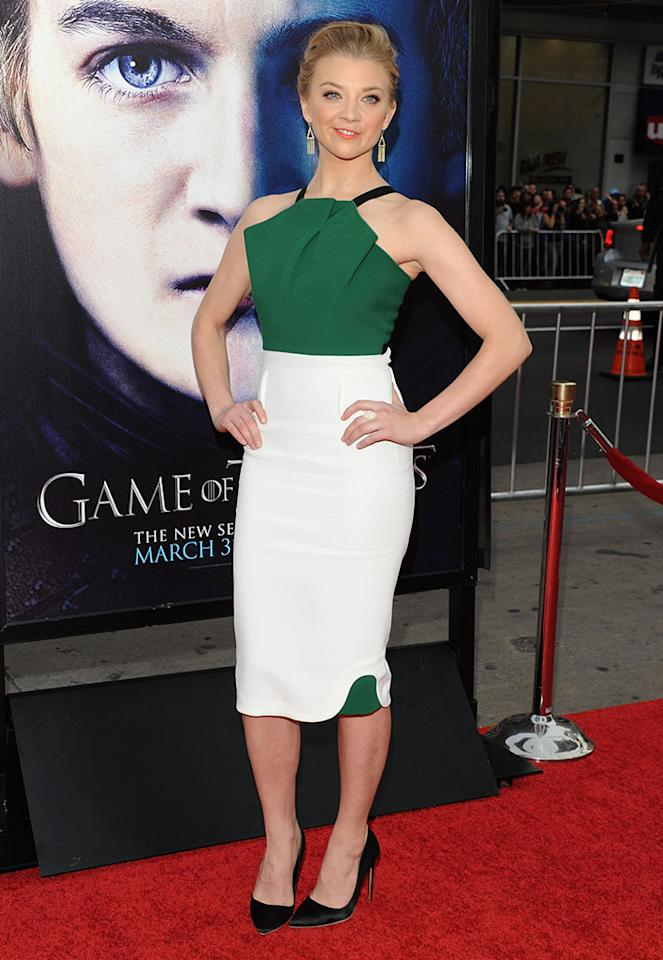 """Natalie Dormer arrives at the premiere of HBO's """"Game of Thrones"""" Season 3 at TCL Chinese Theatre on March 18, 2013 in Hollywood, California."""