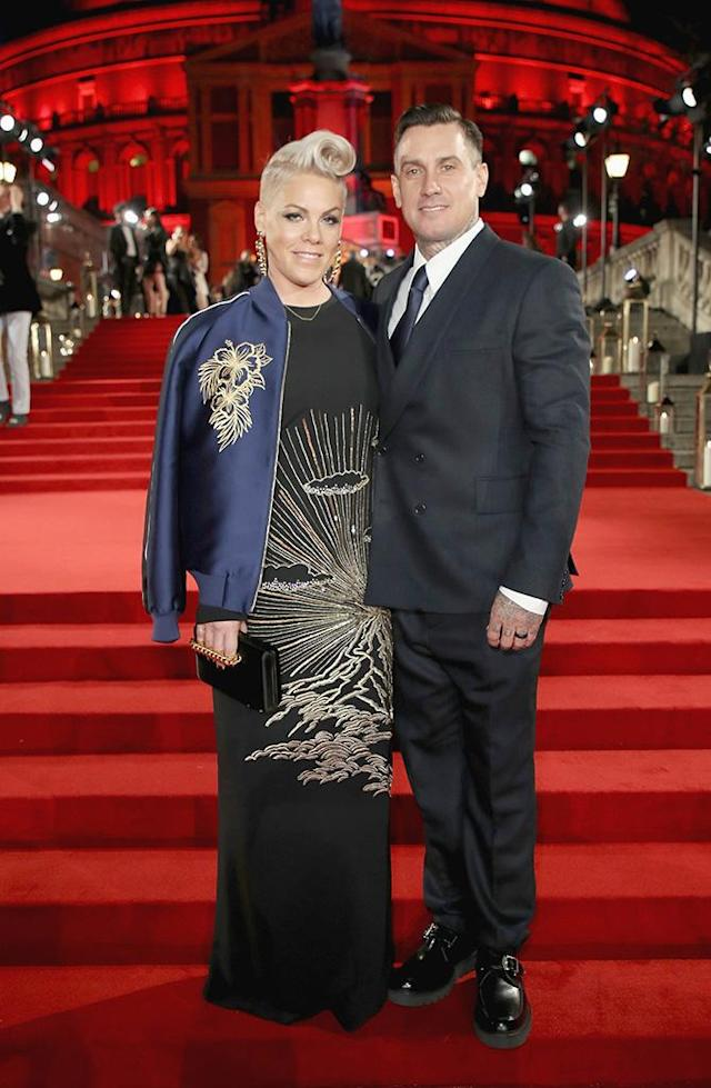 "<p>The ""Beautiful Trauma"" singer and her dashing husband looked like royalty on Monday night, as they posed at the Fashion Awards 2017 at London's Royal Albert Hall. (Photo: Mike Marsland/BFC/Getty Images) </p>"