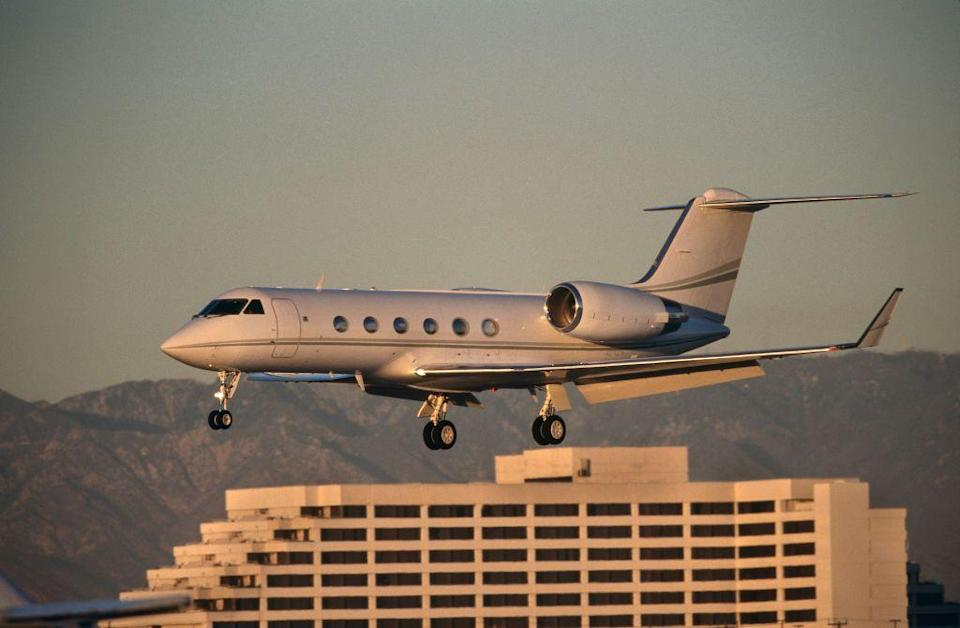 """<p>Faster, larger, and more far-reaching than its predecessors, the Gulfstream IV <a href=""""https://www.airliners.net/aircraft-data/gulfstream-aerospace-g-iv-gulfstream-iv/238"""" rel=""""nofollow noopener"""" target=""""_blank"""" data-ylk=""""slk:set 22 class world records"""" class=""""link rapid-noclick-resp"""">set 22 class world records</a> after its introduction. Though built for civil and corporate transport, some Gulfstream IVs serve the military, hauling cargo and VIPs. One example of the jet, nicknamed """"Gonzo,"""" flies with the National Oceanic and Atmospheric Administration <a href=""""https://www.omao.noaa.gov/learn/aircraft-operations/about/hurricane-hunters"""" rel=""""nofollow noopener"""" target=""""_blank"""" data-ylk=""""slk:investigating hurricanes"""" class=""""link rapid-noclick-resp"""">investigating hurricanes</a>. </p>"""