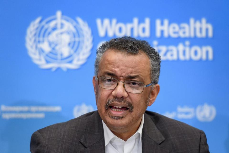 World Health Organisation Director-General Tedros Adhanom Ghebreyesus has issued a stark warning about the threat the coronavirus still poses. Source: Getty