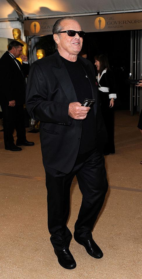 """<a href=""""http://movies.yahoo.com/movie/contributor/1800020346"""">Jack Nicholson</a> at the Academy of Motion Picture Arts and Sciences' Inaugural Governors Awards - 11/14/2009"""