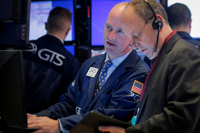 Wall St. eases, led by tech decline on mounting fears coronavirus could spread