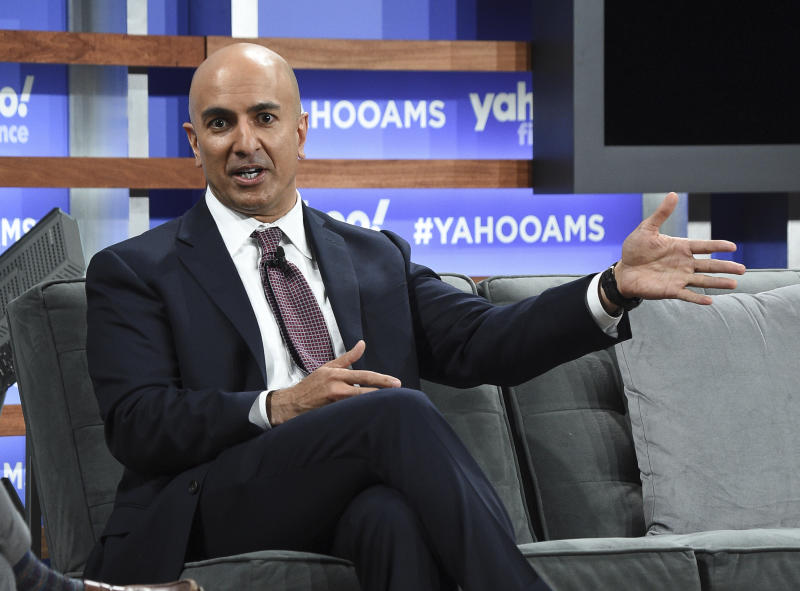 Minneapolis Federal Reserve president Neel Kashkari participates in the Yahoo Finance All Markets Summit at Union West on Thursday, Oct. 10, 2019, in New York. (Photo by Evan Agostini/Invision/AP)