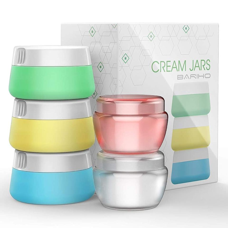 """<p>This <a href=""""https://www.popsugar.com/buy/Bottles%20Containers%20Set-470886?p_name=Bottles%20Containers%20Set&retailer=amazon.com&price=10&evar1=savvy%3Auk&evar9=46406157&evar98=https%3A%2F%2Fwww.popsugar.com%2Fsmart-living%2Fphoto-gallery%2F46406157%2Fimage%2F46406535%2FBottles-Containers-Sets&list1=shopping%2Ctravel%2Ctravel%20goods&prop13=api&pdata=1"""" rel=""""nofollow"""" data-shoppable-link=""""1"""" target=""""_blank"""" class=""""ga-track"""" data-ga-category=""""Related"""" data-ga-label=""""https://www.amazon.com/Accessories-Bottles-Containers-Silicone-toiletries/dp/B07CV9HXLW/ref=sr_1_76?keywords=best+travel+products&amp;qid=1563822161&amp;s=gateway&amp;sr=8-76"""" data-ga-action=""""In-Line Links"""">Bottles Containers Set</a> ($10) is great for storing lotions, face masks, earrings, and so much more.</p>"""