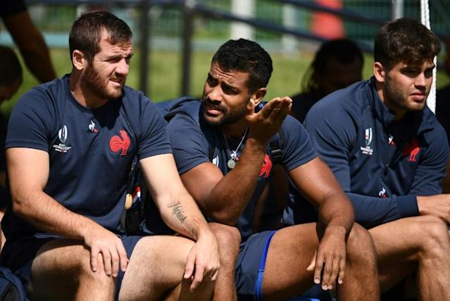Wesley Fofana (C) remains a doubt for France's opening World Cup game against Argentina in Tokyo on September 21 (AFP Photo/FRANCK FIFE)