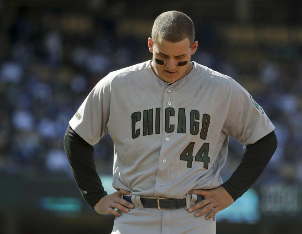 There's reason to think the Chicago Cubs' Anthony Rizzo will improve his average. (AP Photo/Chris Carlson)