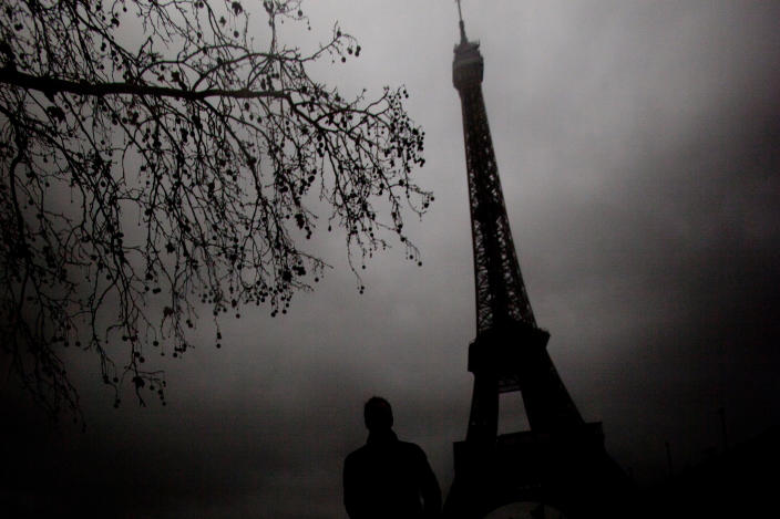 """<b>Honorable Mention: Eerie Eiffel</b> <br> The winter gloomy day worked to my advantage to create this eerie feeling of the famous landmark Eiffel tower. <a href=""""http://ngm.nationalgeographic.com/ngm/photo-contest/"""" rel=""""nofollow noopener"""" target=""""_blank"""" data-ylk=""""slk:(Photo and caption by Indra Swari Wonowidjojo/National Geographic Photo Contest)"""" class=""""link rapid-noclick-resp"""">(Photo and caption by Indra Swari Wonowidjojo/National Geographic Photo Contest)</a>"""