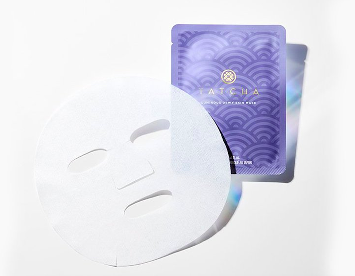 Luminous Dewy Skin Sheet Mask. Image via Tatcha.