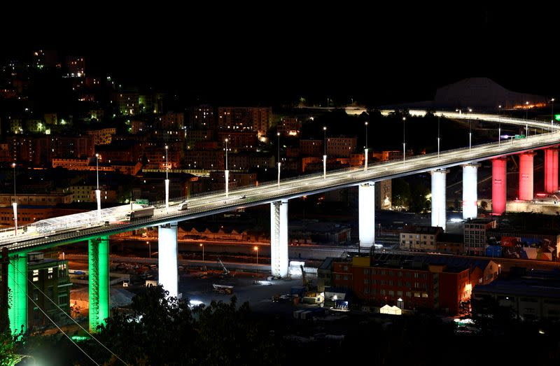 FILE PHOTO: Official inauguration of the new Genoa bridge