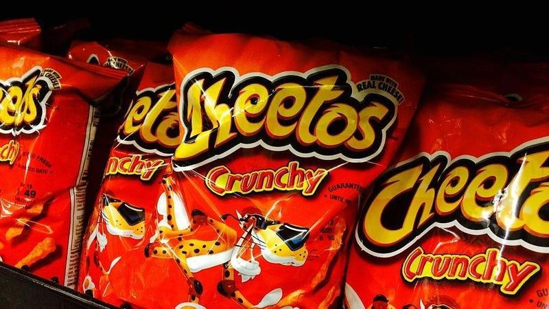 Bags of crunchy Cheetos on store shelves