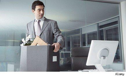 quitting JOLTS survey, worker packs up to leave his cubicle