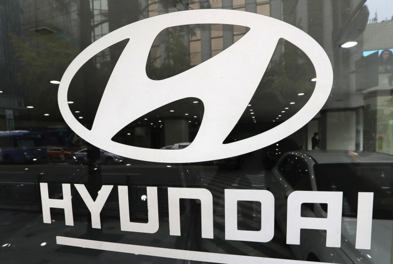 "FILE - In this Oct. 26, 2016, file photo, the logo of Hyundai Motor Co. is displayed at the automaker's showroom in Seoul, South Korea. Bill O'Reilly's top-rated Fox News show may be starting to feel a financial sting after allegations that he sexually harassed several women. Hyundai said it currently has no ads on ""The O'Reilly Factor,"" but it pulled spots on future episodes. The automaker says it wants to partner with companies and programming that share its values of inclusion and diversity. (AP Photo/Lee Jin-man, File)"