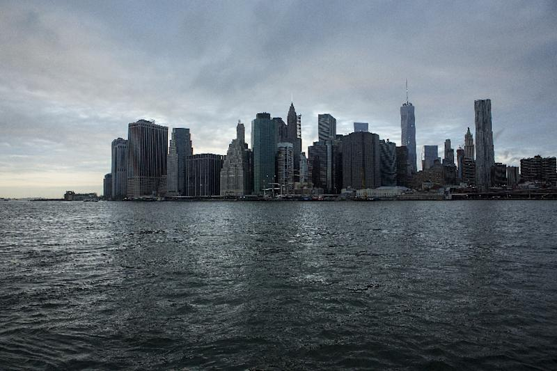 The lower Manhattan skyline in New York City pictured from Brooklyn on September 11, 2014 (AFP Photo/Eric Thayer)