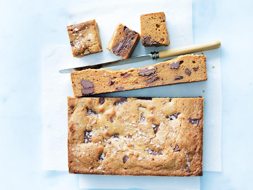 """Salted caramel and rich fudgy chocolate is truly a match made in heaven. <a href=""""https://www.epicurious.com/recipes/food/views/salted-caramel-chocolate-brownie-56390087?mbid=synd_yahoo_rss"""" rel=""""nofollow noopener"""" target=""""_blank"""" data-ylk=""""slk:See recipe."""" class=""""link rapid-noclick-resp"""">See recipe.</a>"""