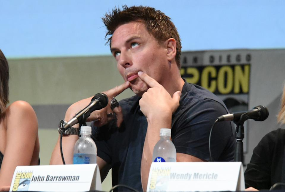 """John Barrowman attends the """"Arrow"""" panel on day 3 of Comic-Con International on Saturday, July 11, 2015, in San Diego. (Photo by Richard Shotwell/Invision/AP)"""
