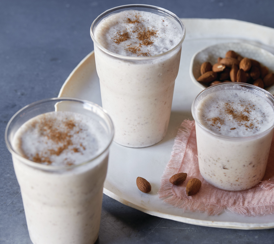"""<p>This is a creamy, dreamy, dairy-free shake. Soaking the almonds overnight punches up the richness and when blended with frozen bananas, the texture is smooth and silky, just like an ice cream shake. Cinnamon is also an antioxidant with anti-cancer properties and its use as a remedy for respiratory and digestive issues goes back centuries. </p> <p><a href=""""https://www.thedailymeal.com/recipes/cinnamon-and-vanilla-date-shake-recipe?referrer=yahoo&category=beauty_food&include_utm=1&utm_medium=referral&utm_source=yahoo&utm_campaign=feed"""" rel=""""nofollow noopener"""" target=""""_blank"""" data-ylk=""""slk:For the Cinnamon and Vanilla Date Shake recipe, click here."""" class=""""link rapid-noclick-resp"""">For the Cinnamon and Vanilla Date Shake recipe, click here. </a></p>"""
