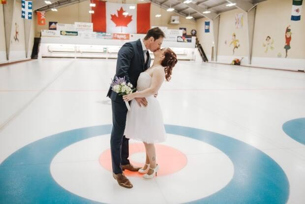 Tim and Suzanne Nicole Harris shared this picture from their surprise wedding in Charlottetown in December 2019. 'We were very lucky we planned it for when we did,' she said. 'We surprised my family with family photos at the [Charlottetown Curling Club] as a Christmas present, which was actually our surprise wedding!'