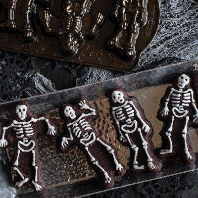 """<p><strong>Nordic Ware</strong></p><p>target.com</p><p><strong>$35.00</strong></p><p><a href=""""https://www.target.com/p/nordic-ware-spooky-skeleton-cakelets-pan/-/A-77646847"""" rel=""""nofollow noopener"""" target=""""_blank"""" data-ylk=""""slk:Shop Now"""" class=""""link rapid-noclick-resp"""">Shop Now</a></p><p>Dance the night away with the jivin' skeletons on this cake pan. They might look dead, but these guys will certainly be the life of the party! .</p>"""