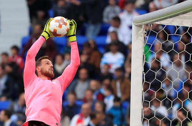Soccer Football - Europa League Final - Olympique de Marseille vs Atletico Madrid - Groupama Stadium, Lyon, France - May 16, 2018 Atletico Madrid's Jan Oblak during the warm up before the match REUTERS/Gonzalo Fuentes