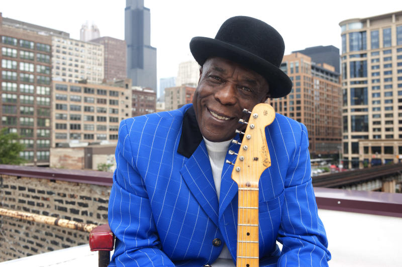 This undated handout photo provided by the Kennedy Center shows Buddy Guy in Chicago. Dustin Hoffman and David Letterman will soon find themselves in company they never expected in the nation's capital. The actor and comedian are among seven people receiving the 2012 Kennedy Center Honors, according to an announcement Wednesday. They join Chicago bluesman Buddy Guy, rock band Led Zeppelin and ballerina Natalia Makarova. (AP Photo/Kennedy Center)