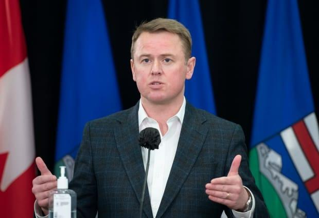 Alberta Health Minister Tyler Shandro said the government will create 6,000 new or replacement continuing care beds in the province.   (Government of Alberta - image credit)