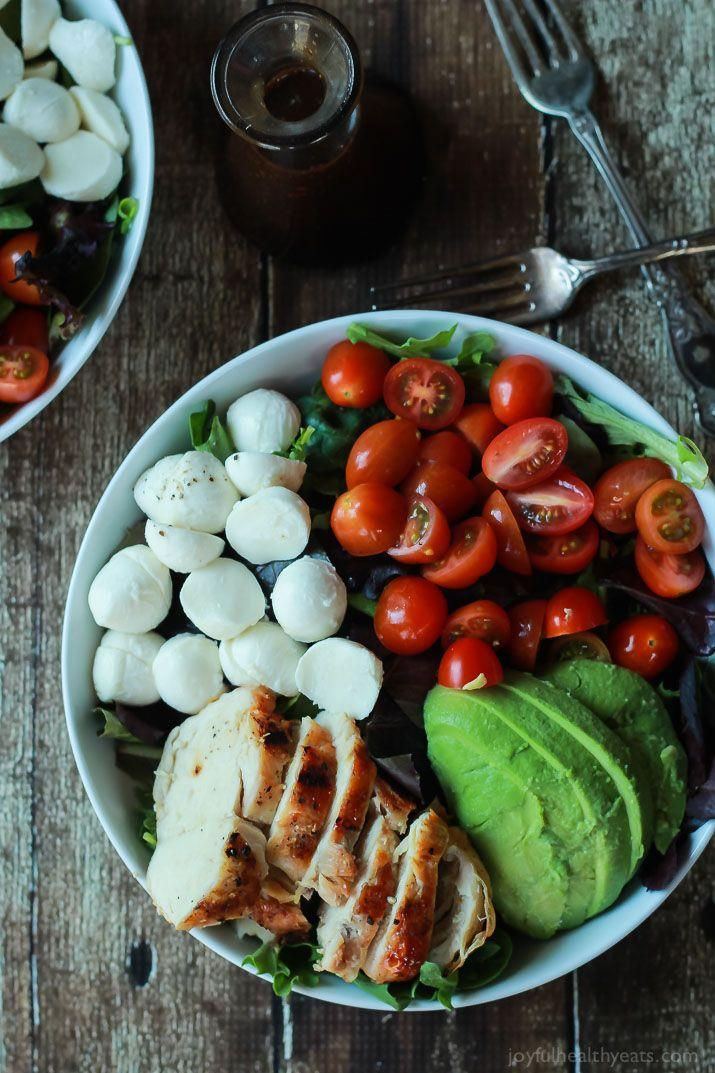 "<p>Caprese goes better with chicken and avo.</p><p>Get the recipe from <a href=""http://www.joyfulhealthyeats.com/15-minute-avocado-caprese-chicken-salad-with-balsamic-vinaigrette/#_a5y_p=3638253"" rel=""nofollow noopener"" target=""_blank"" data-ylk=""slk:Joyful, Healthy Eats"" class=""link rapid-noclick-resp"">Joyful, Healthy Eats</a>.</p>"