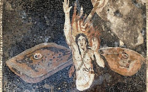 Archeologists found this remarkable mosaic of a woman in the two villas - Credit: Pompeii