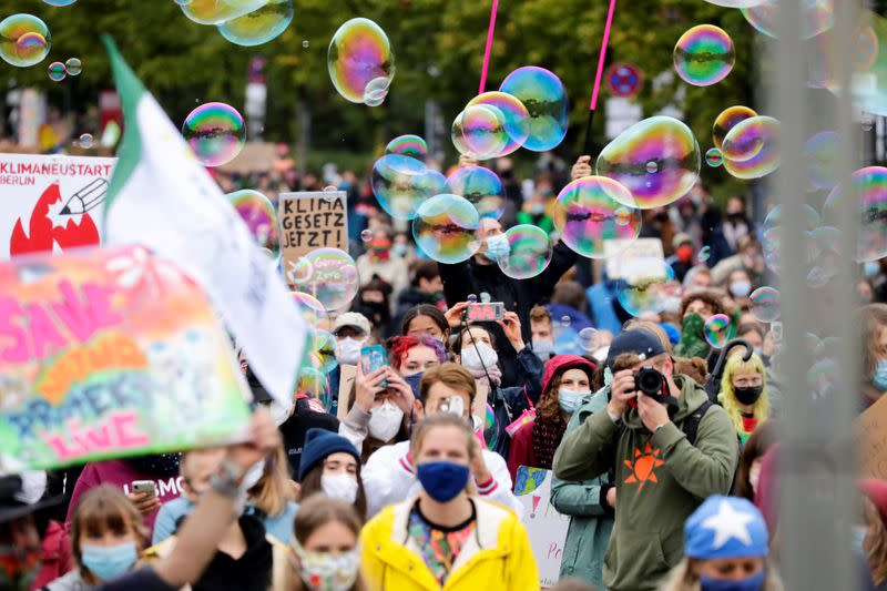FILE PHOTO: Fridays for Future activists protest in Berlin