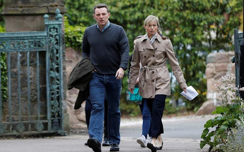 Kate and Gerry McCann arrive for a service to mark the 10th anniversary of the disappearance of their daughter. - REUTERS