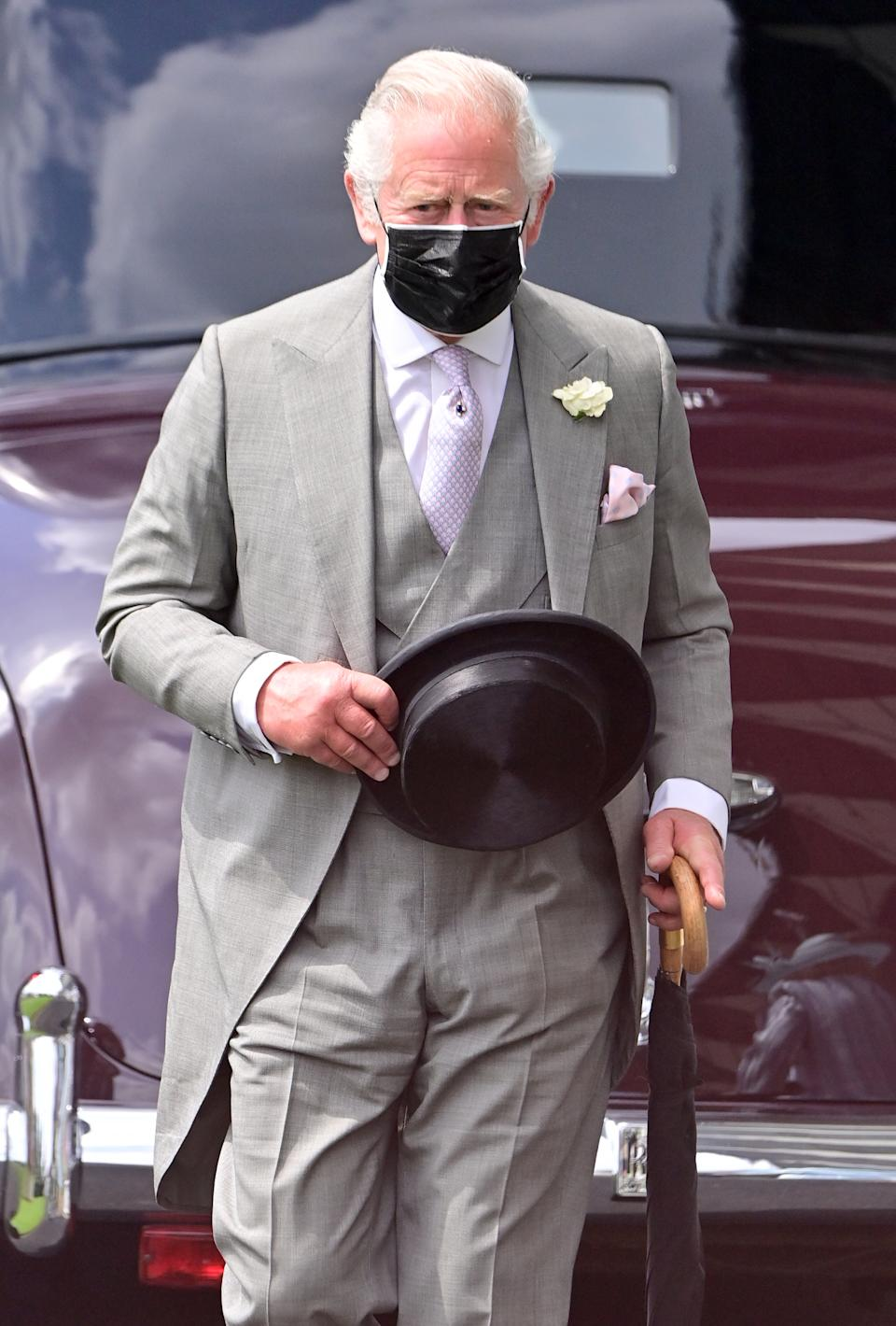 ASCOT, ENGLAND - JUNE 15: Prince Charles, Prince of Wales attends Royal Ascot 2021 at Ascot Racecourse on June 15, 2021 in Ascot, England. (Photo by Samir Hussein/WireImage)
