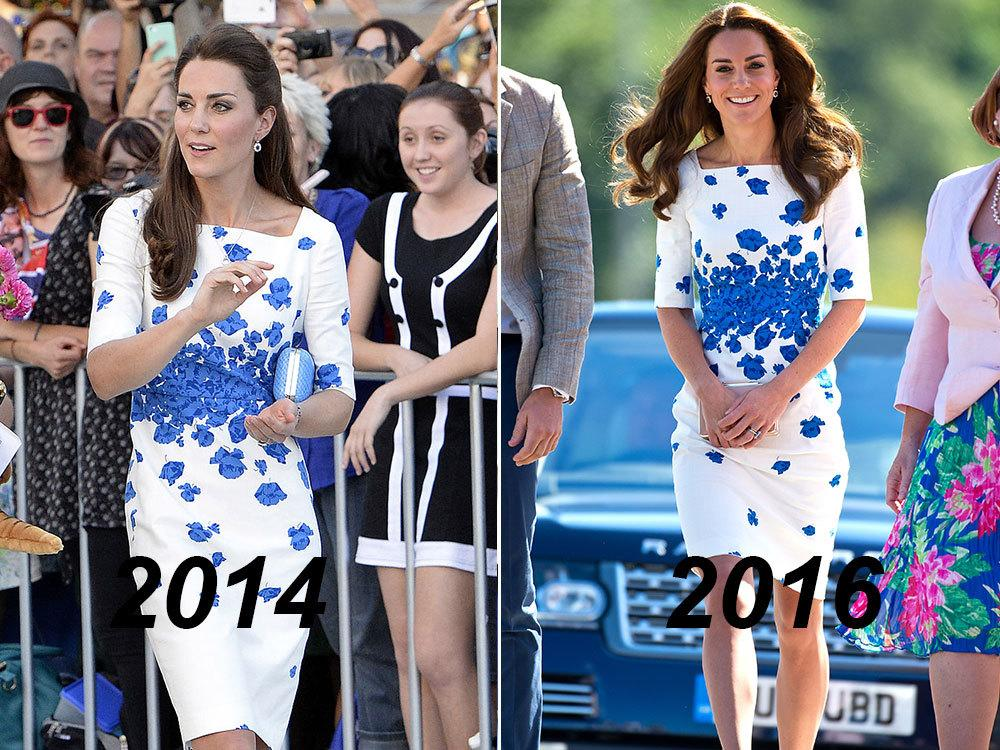 <p>After a month-long hiatus from public events, the Duchess of Cambridge was back out and about on Aug. 24 for a series of royal engagements. To brave the hot weather, which apparently reached a high of 32C, Princess Kate turned to one of her favourite brands, LK Bennett. She opted for a chic white dress with blue floral detailing – a frock she first debuted on the royal family's trip to Australia and New Zealand in 2014. </p>