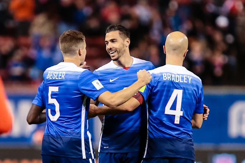 Geoff Cameron (center), Matt Besler (left) and Michael Bradley were anchors for the USMNT for a majority of this decade. (Photo by Tim Spyers/Icon Sportswire/Corbis/Icon Sportswire via Getty Images)